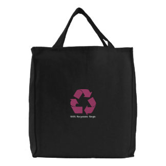 Embroidered 100% Recyclable Single Bag