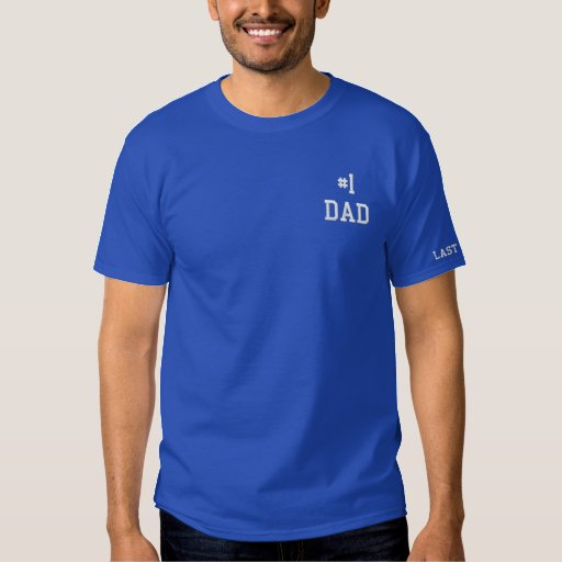 Embroidered #1 Dad Golf Shirt
