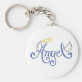 Embroidered Angel Keychain