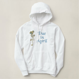 Embroidered April Maternity Hoodie