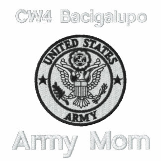 Embroidered Army Mom Emblem Polo