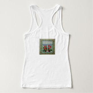 Embroidered art point d cross beach window c tank top