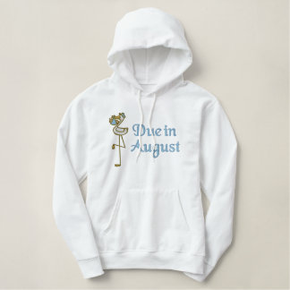 Embroidered August Maternity Hoodie