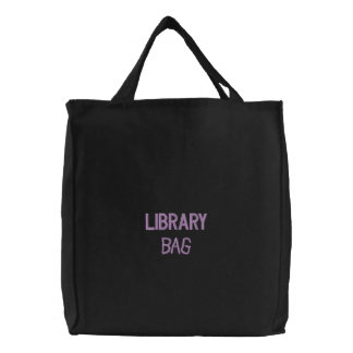 Embroidered Back to School Library Bag