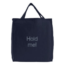 "Embroidered Bag ""Hold me!"""
