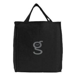 Embroidered Bag w Cobblestone Grey Logo