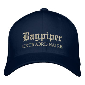 Embroidered Bagpiper Extraordinaire Music Cap Embroidered Baseball Cap