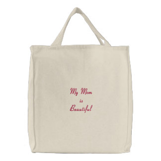 embroidered basic Tote bag