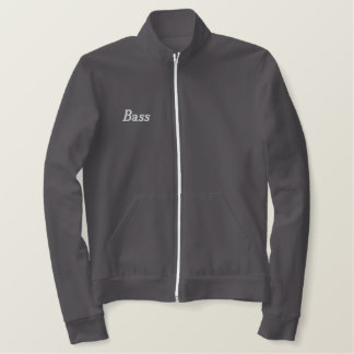 Embroidered Bass Player Track Jacket