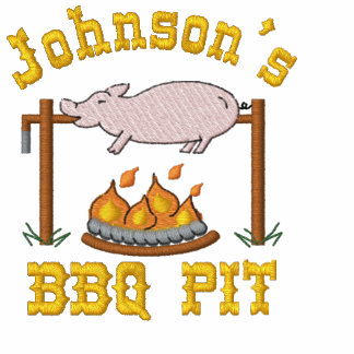 Embroidered BBQ Pit Embroidered Shirt