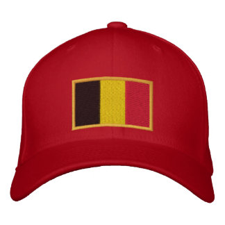 Embroidered Belgian Flag on Cap