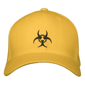 Embroidered Biohazard Symbol Hat Embroidered Hat
