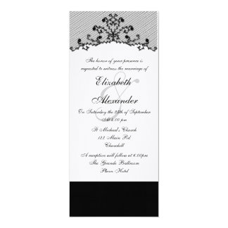 Embroidered Black Lace Invitation