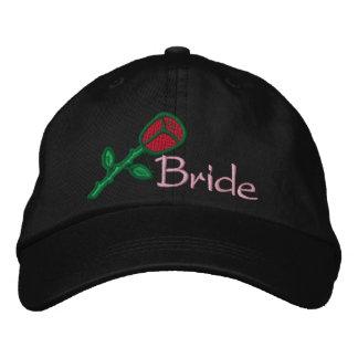 EMBROIDERED BRIDE WEDDING CAP BASEBALL CAP