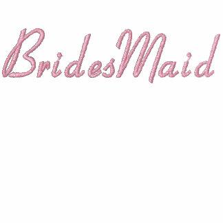 Embroidered Bridesmaid Wedding Apparel Embroidered Hooded Sweatshirt