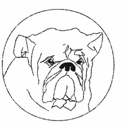 Embroidered Bulldog Women Polo Shirt