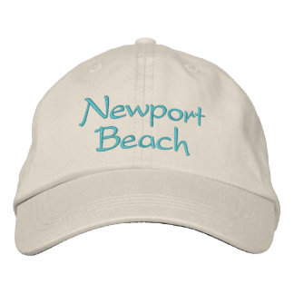 Embroidered California hats. Newport Beach Embroidered Baseball Cap