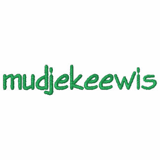 EMBROIDERED CAMP MUDJEKEEWIS HOODED SWEATSHIRT