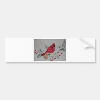 Embroidered Cardinal Bumper Sticker