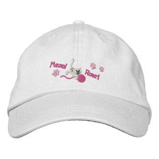 Embroidered Cat Hat/Cap Cap