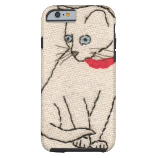Embroidered cat iPhone 6 tough case Tough iPhone 6 Case