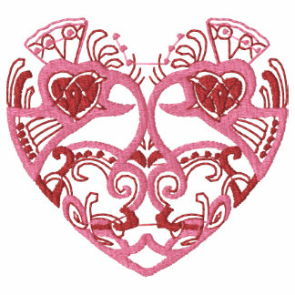 Embroidered Celtic Heart Valentine Shirt