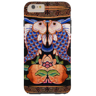 Embroidered Chinese Fish Design Tough iPhone 6 Plus Case