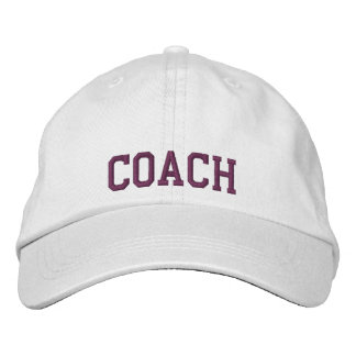 Embroidered Coach Baseball Cap/Hat