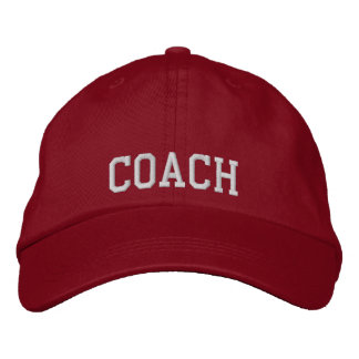 Embroidered Coach Baseball Cap/Hat Embroidered Baseball Hat