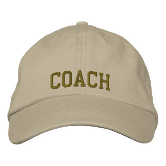Embroidered Coach Baseball Cap/Hat Embroidered Hat