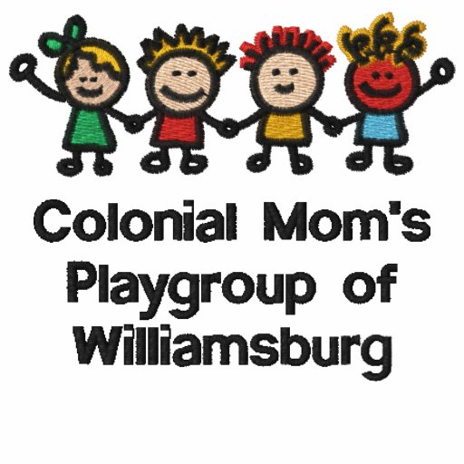 Embroidered Colonial Mom's Member T-Shirt in White