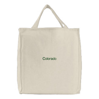 Embroidered Colorado Tote Bag