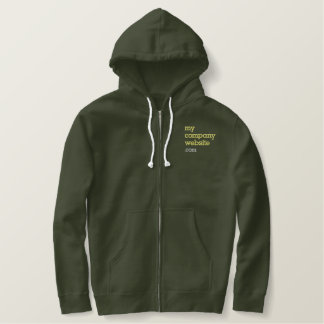 Embroidered company name website employee jacket