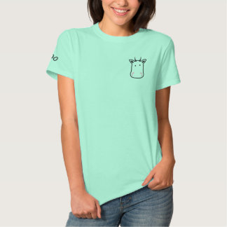Embroidered Cow Woman T-Shirt