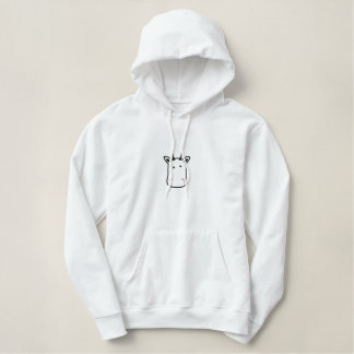 Embroidered Cow Women Hoodie