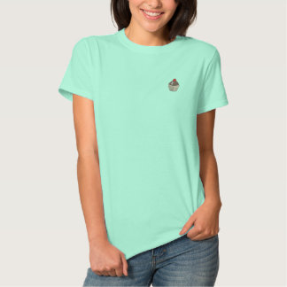Embroidered Cupcake Embroidered Shirt
