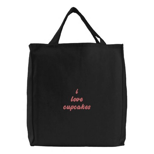 Embroidered Cupcake Tote