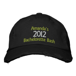 Embroidered Customized Bachelorette Bash Hat