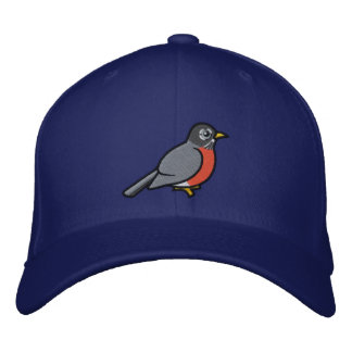 Embroidered cute American Robin Embroidered Baseball Cap