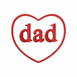 Embroidered Basic T-Shirt with Embroidered Dad Gifts design