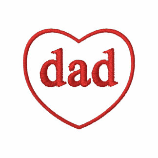 Embroidered Dad Heart