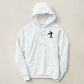 Embroidered Dancing Groom -Back and Front Design Embroidered Hoodie