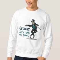 Embroidered Dancing Groom Embroidered Sweatshirt
