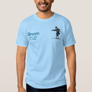 Embroidered Dancing Groom Embroidered T-Shirt