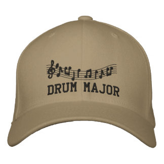 Embroidered Drum Major Band Cap