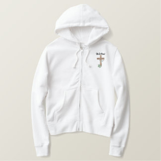 Embroidered Easter Zip Hoodie Shirt