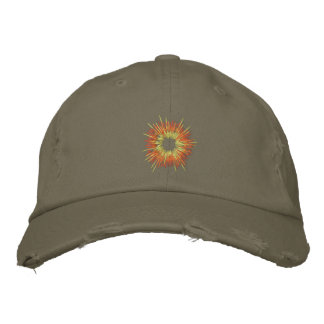 Embroidered Explosion distressed Cap