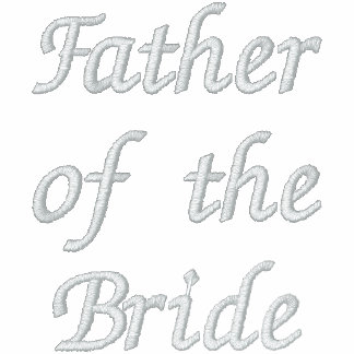 Embroidered Father of the Bride Polo Shirt