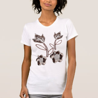 Embroidered flower designs T-Shirt