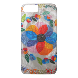 embroidered flower iPhone 8 plus/7 plus case